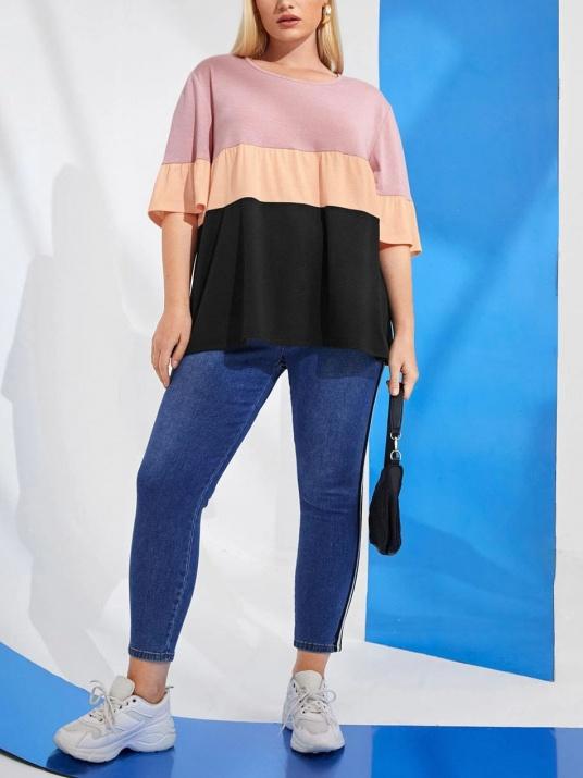 Bluză cu părți colorate