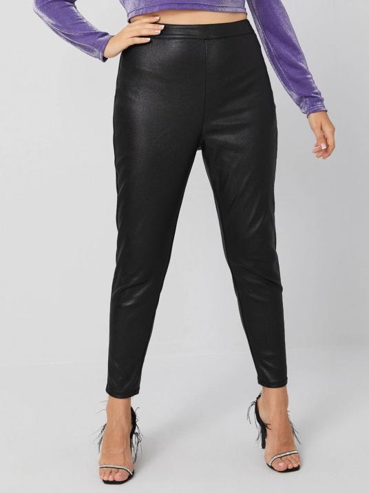 Pantaloni din piele ecologică dimensiuni mari