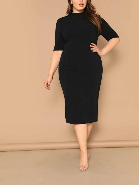 Rochie neagră elegantă de dimensiuni mari