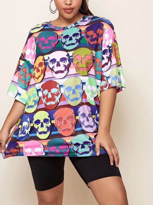 Bluză colorată de dimensiuni mari
