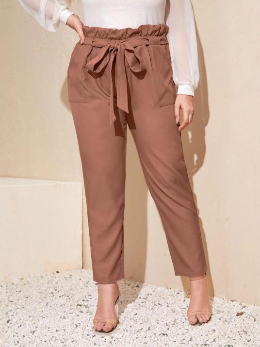 Pantaloni sport - eleganți cu talie înaltă